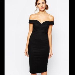 🖤 Bardot off the shoulder dress